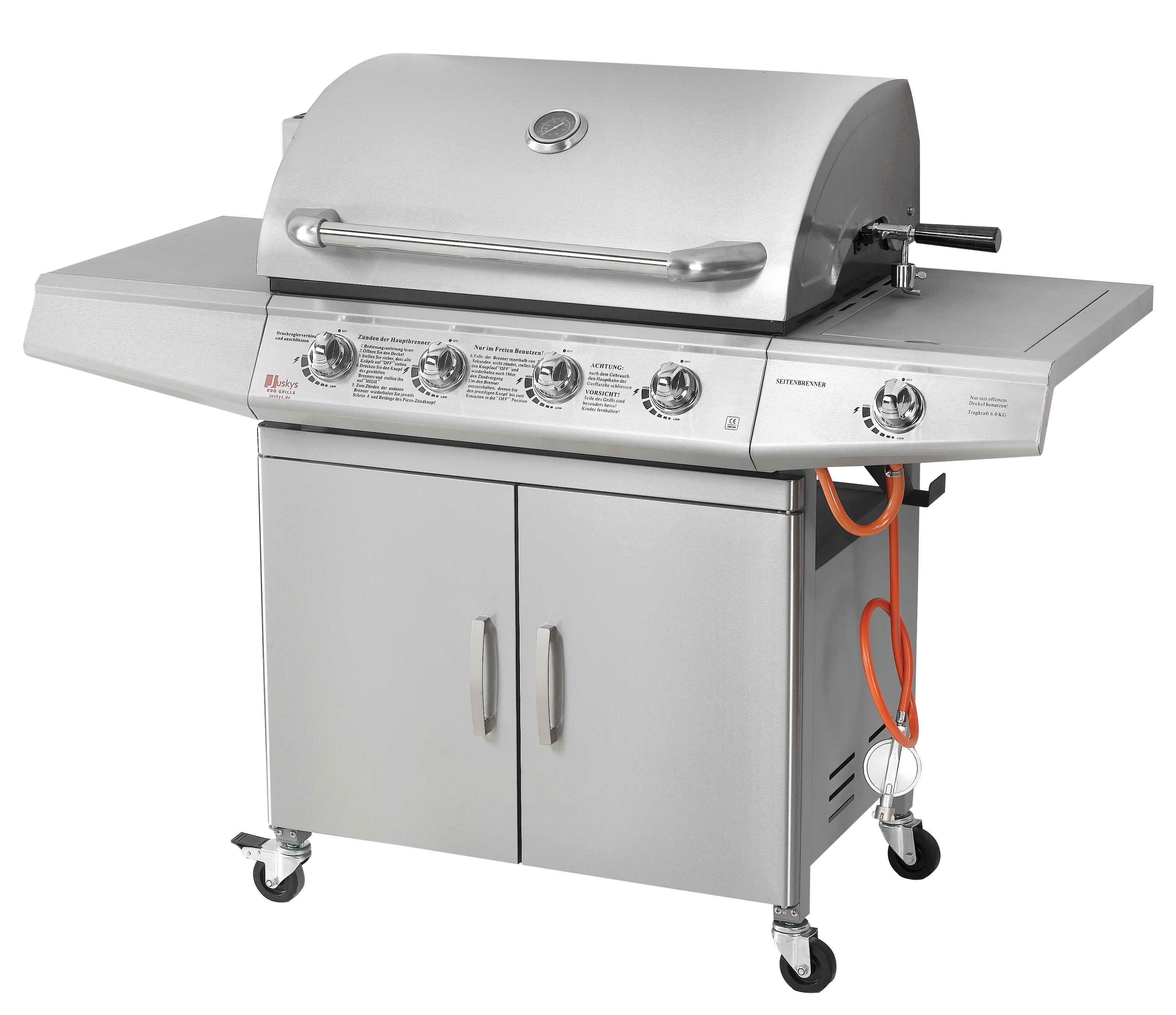 Bbq gasgrill edelstahl gas grill grillwagen barbecue ebay for Weber gasgrill 3 brenner