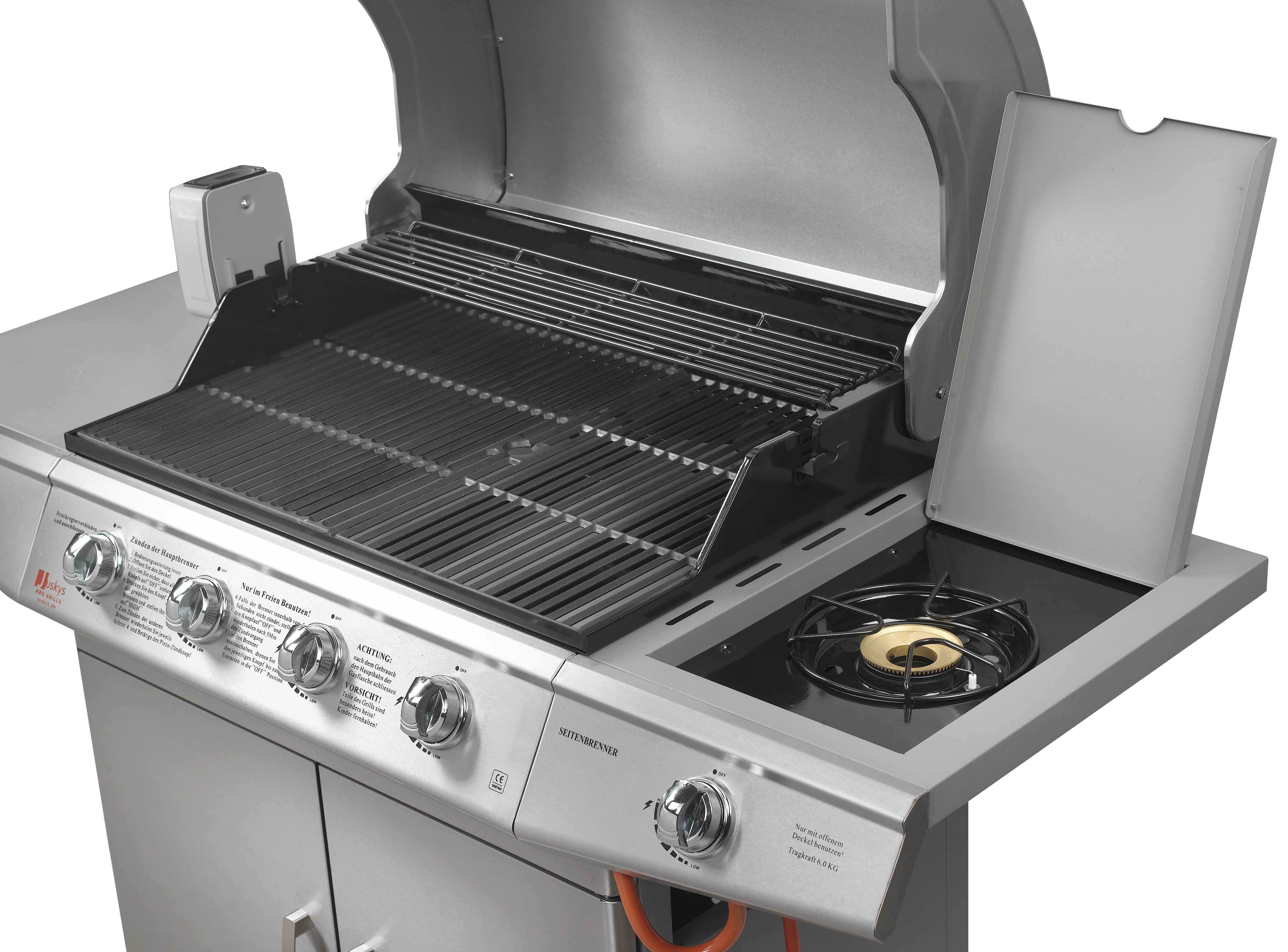 bbq gasgrill edelstahl gas grill grillwagen barbecue ebay. Black Bedroom Furniture Sets. Home Design Ideas