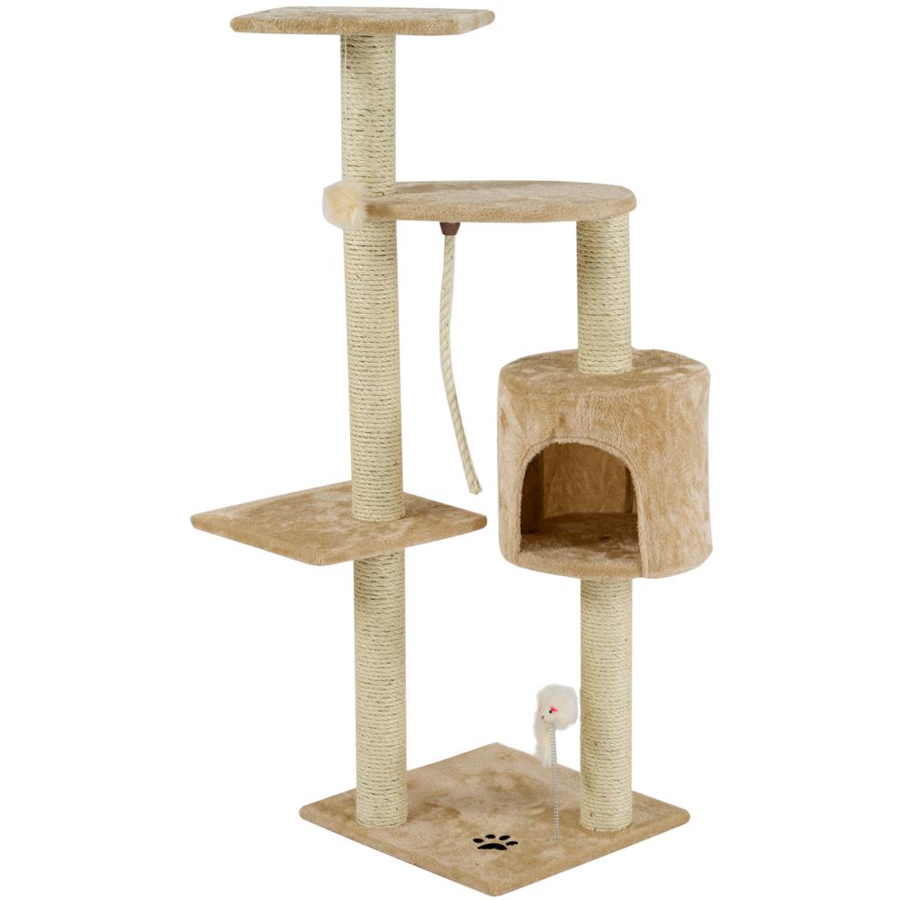 sam s pet kratzbaum katzenbaum kletterbaum katzen katzenkratzbaum katzenbett neu ebay. Black Bedroom Furniture Sets. Home Design Ideas