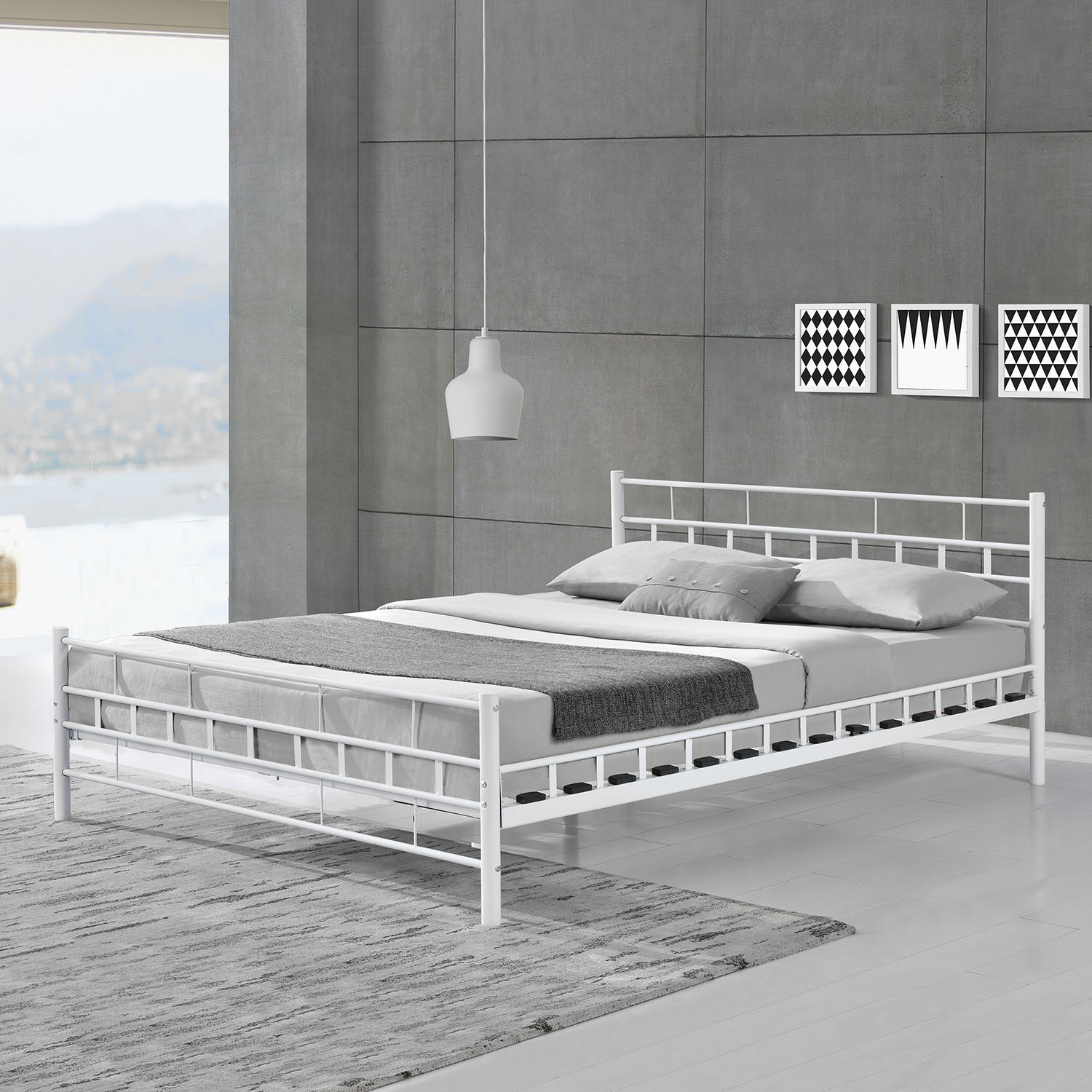 metallbett malta lattenrost bettgestell doppelbett. Black Bedroom Furniture Sets. Home Design Ideas