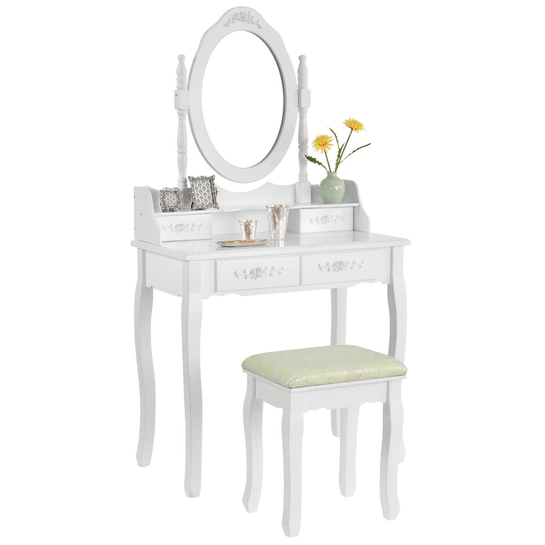 schminktisch mit hocker kosmetiktisch frisierkommode mit. Black Bedroom Furniture Sets. Home Design Ideas