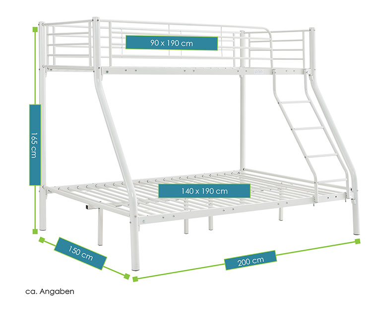 etagenbett hochbett metall doppelstockbett einzelbetten. Black Bedroom Furniture Sets. Home Design Ideas