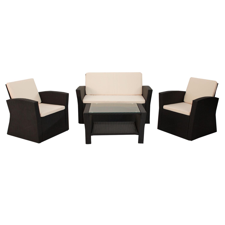 polyrattan sitzgruppe lounge gartenm bel gartenset rattan garnitur ebay. Black Bedroom Furniture Sets. Home Design Ideas
