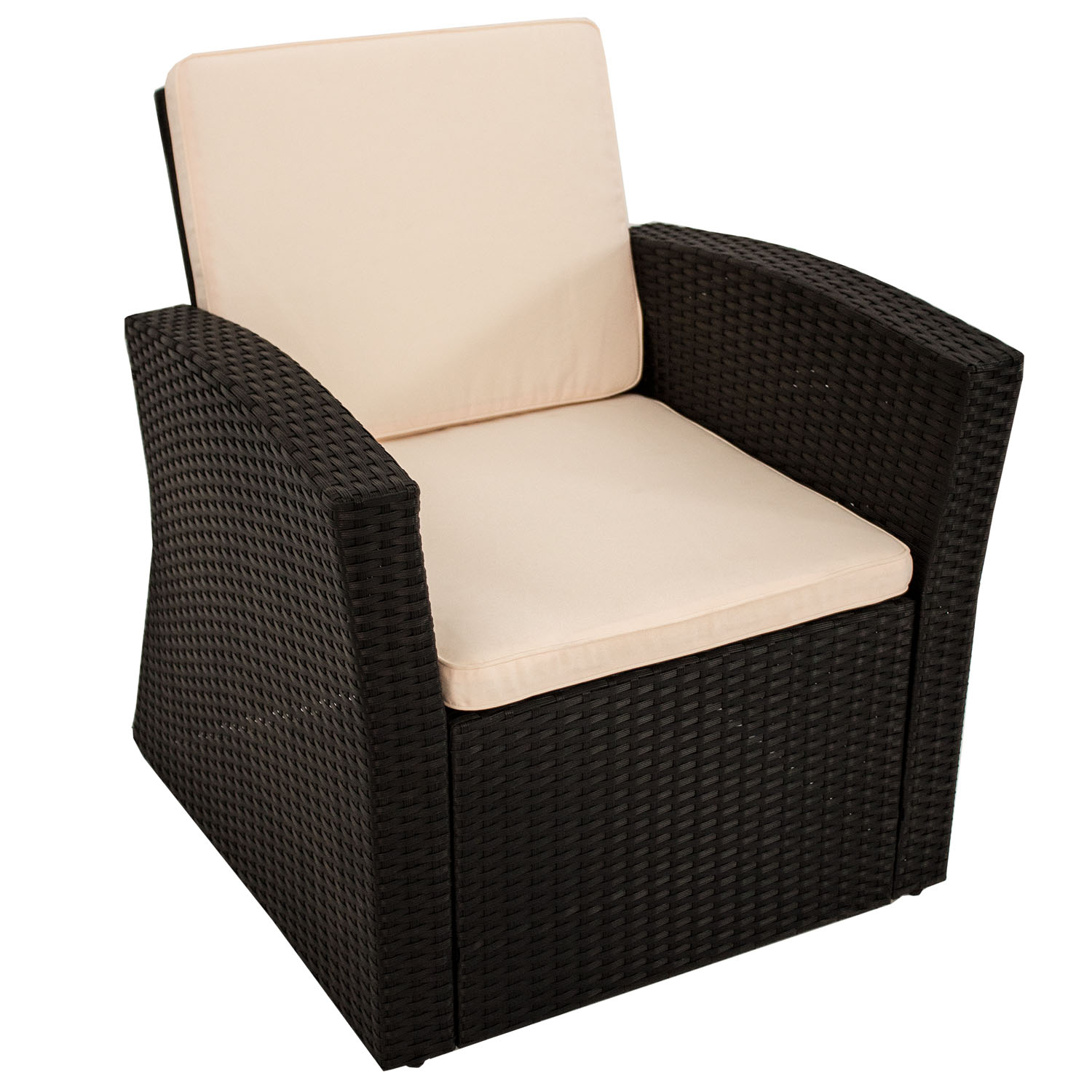 polyrattan sitzgruppe lounge gartenm bel gartenset rattan. Black Bedroom Furniture Sets. Home Design Ideas