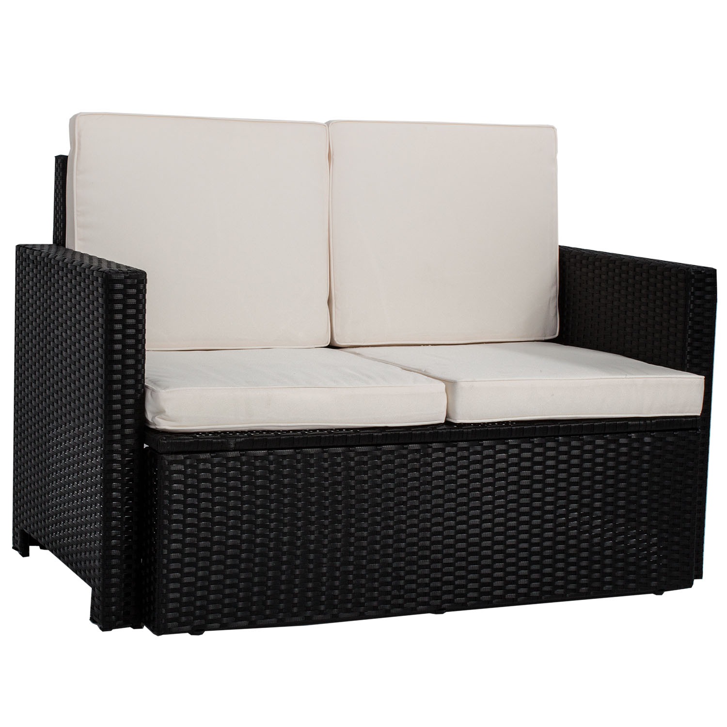 gartenm bel polyrattan lounge gartenset rattan sitzgruppe garnitur tisch samos ebay. Black Bedroom Furniture Sets. Home Design Ideas