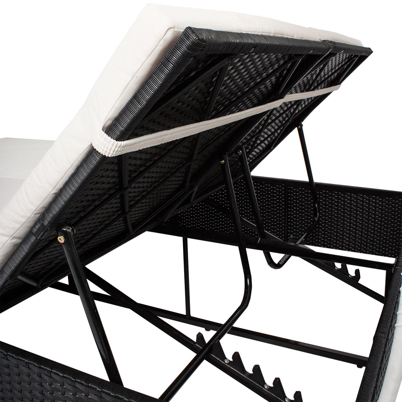 polyrattan sonnenliege gartenliege liegestuhl doppelliege relaxliege. Black Bedroom Furniture Sets. Home Design Ideas