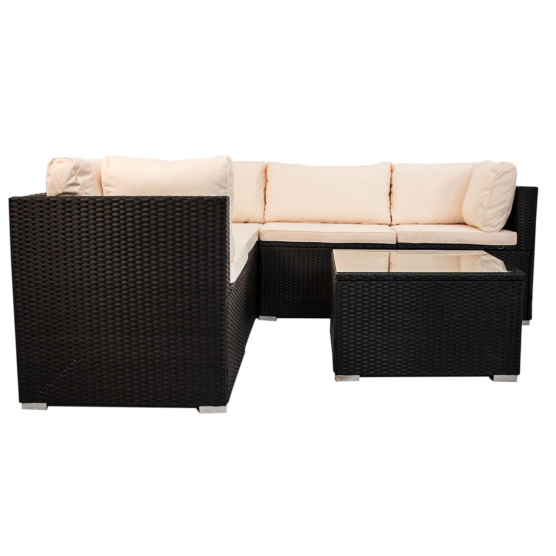 gartenm bel polyrattan lounge gartenset rattan sitzgruppe garnitur nassau neu ebay. Black Bedroom Furniture Sets. Home Design Ideas