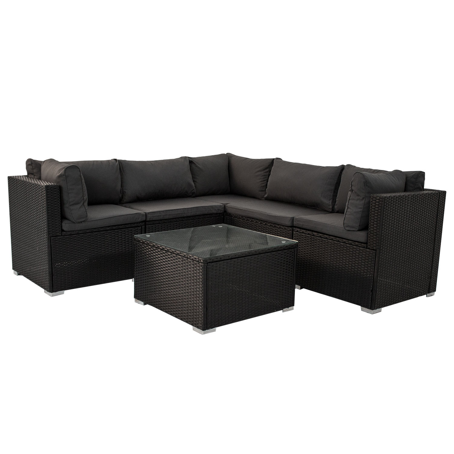 gartenm bel polyrattan lounge gartenset rattan sitzgruppe. Black Bedroom Furniture Sets. Home Design Ideas