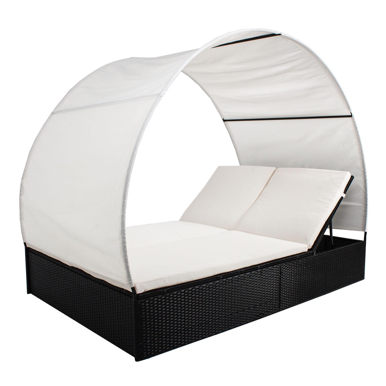 polyrattan gartenliege liegestuhl liege poly sonnenliege rattanliege relaxliege ebay. Black Bedroom Furniture Sets. Home Design Ideas