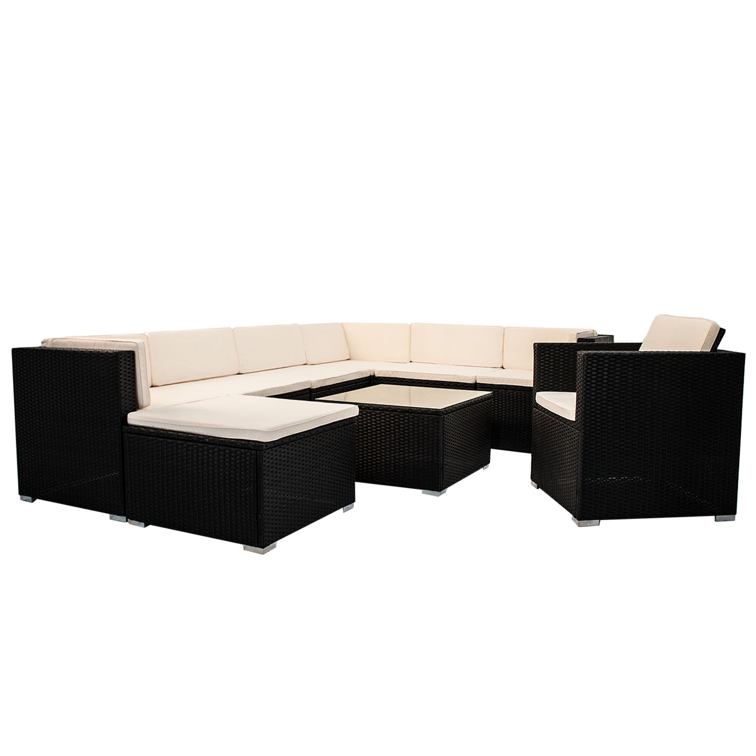 polyrattan gartenm bel lounge rattan gartenset poly sitzgruppe rattanm bel neu. Black Bedroom Furniture Sets. Home Design Ideas