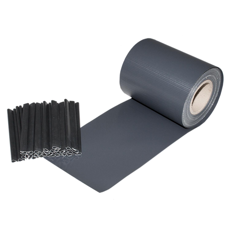 pvc sichtschutz windschutz doppelstabmatten zaunblende streifen zaunfolie balkon ebay. Black Bedroom Furniture Sets. Home Design Ideas