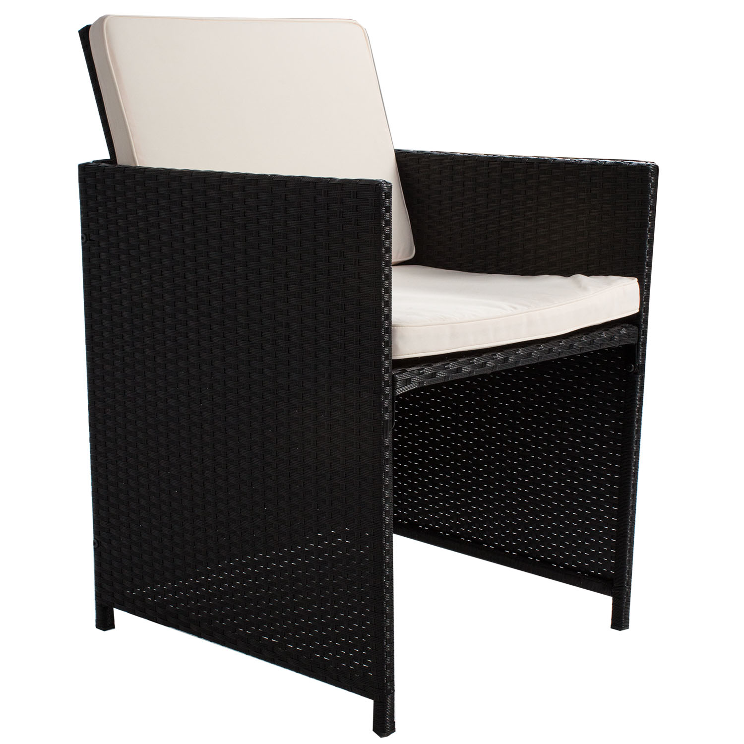 polyrattan gartenm bel cube essgruppe sitzgruppe rattan gartenset lounge neu ebay. Black Bedroom Furniture Sets. Home Design Ideas